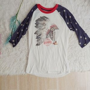 """Tops - """"Made in America"""" Headdress Graphic Tee"""